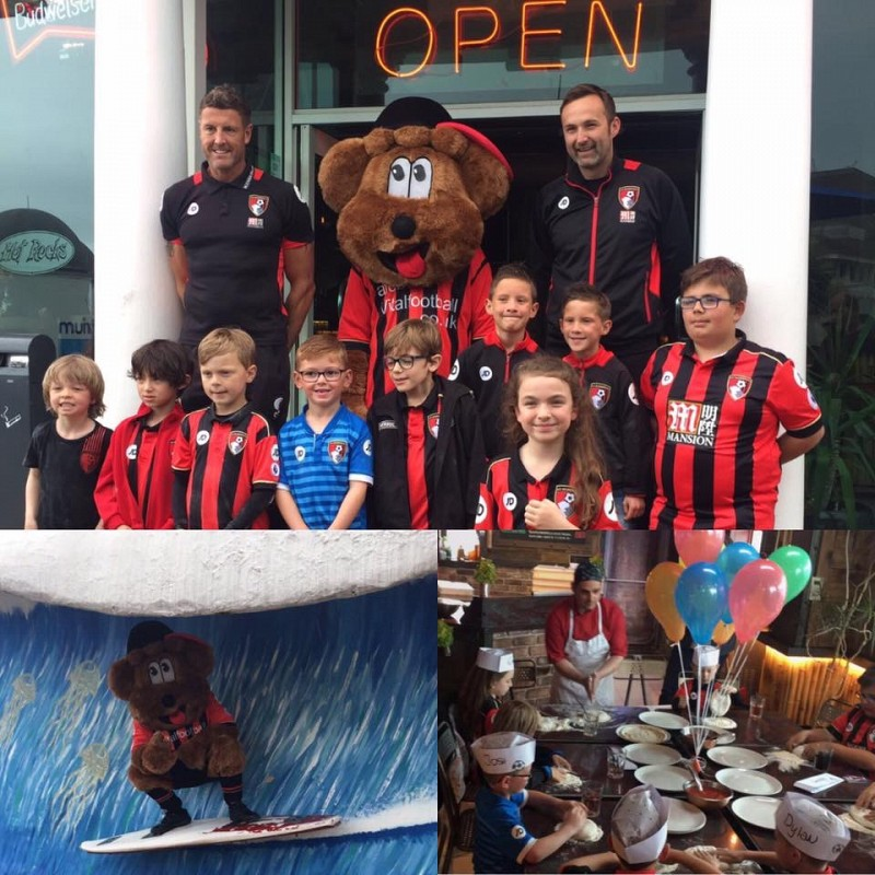Pizza with AFC Bournemouth Junior Cherries